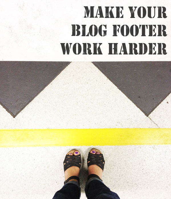 make your blog footer work harder