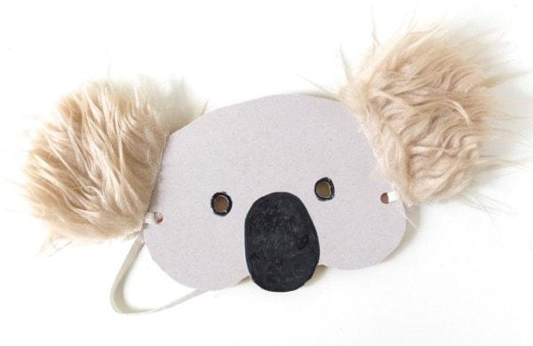 finsished koala mask diy