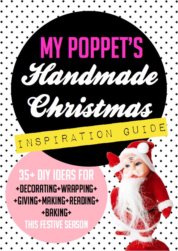 Handmade craft and food for christmas mini magazine
