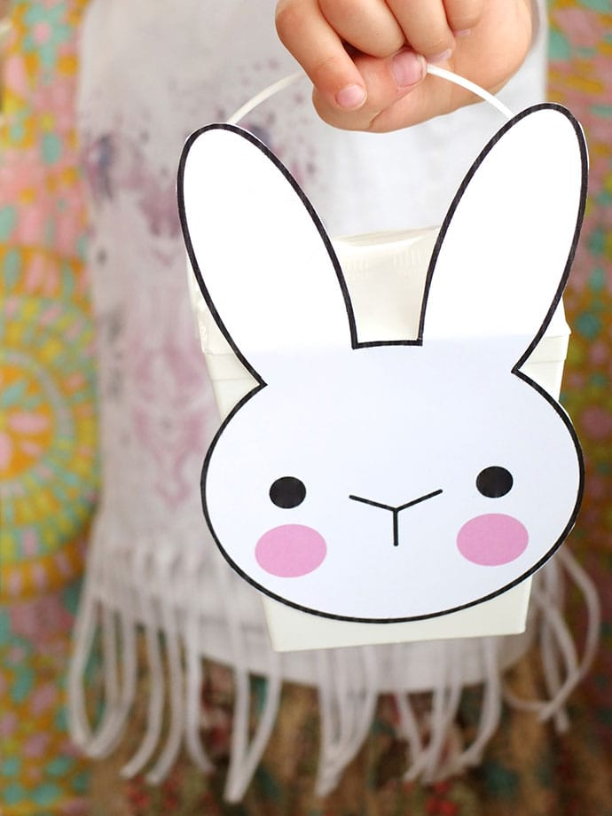 Make a Bunny Takeout box easter basket - mypoppet.com.au