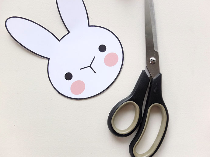 Bunny rabbit printable template design - mypoppet.com.au