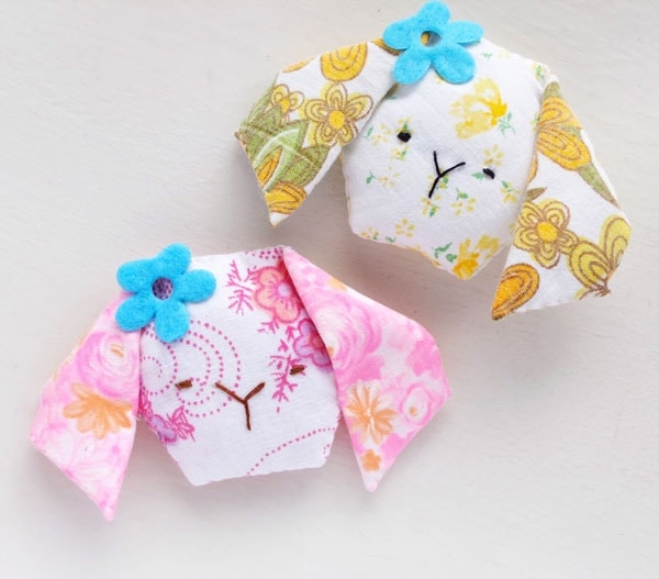cute mini bunny pillows and scented lavender sachet