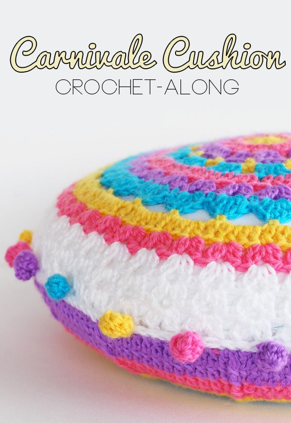 CAL Crochet along Carnivale Cushion