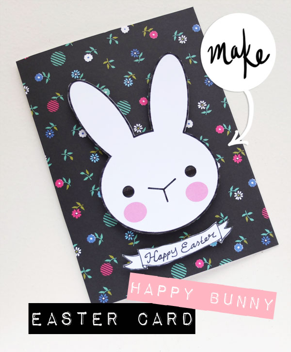 Easter bunny card diy
