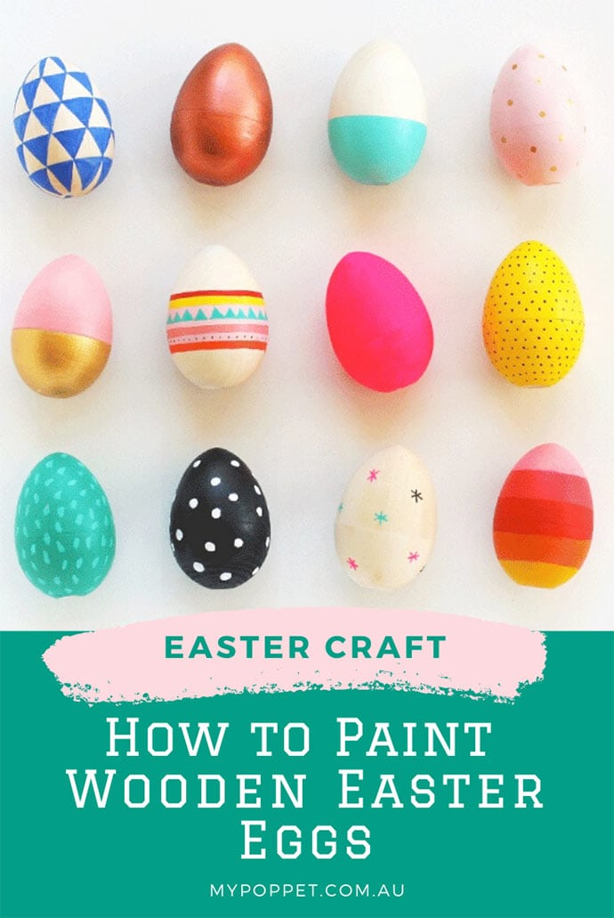 Paint wooden eggs for easter craft