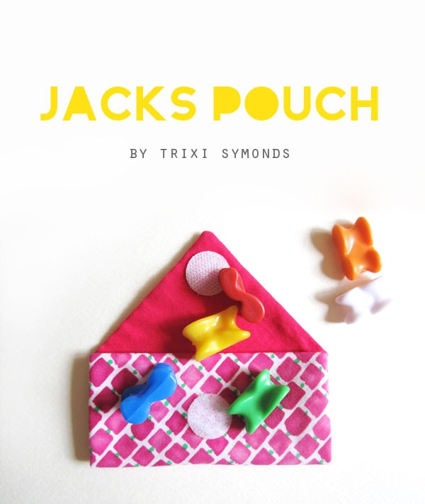 DIY jacks knucklebone pouch kids sewing tutorial