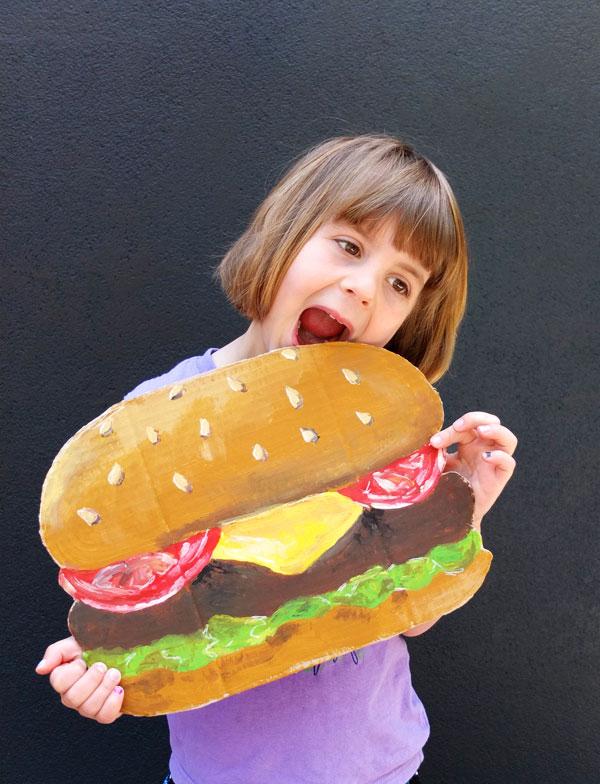 Giant Hamburger Postcard
