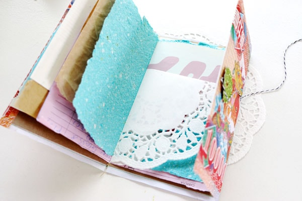 DIY scrap paper and ephemera note book