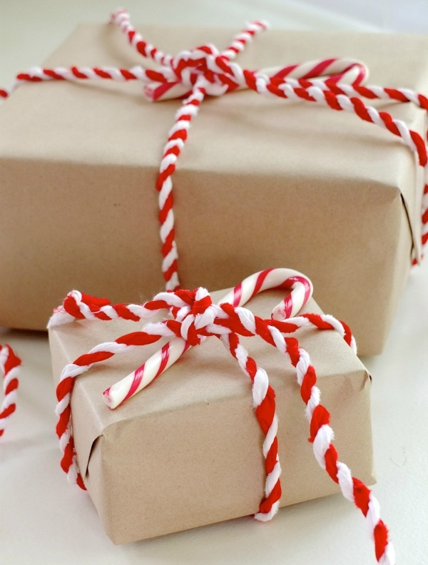 Candy Cane Christmas Gift Wrap My Poppet Makes