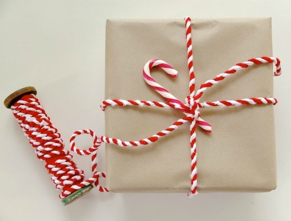 how to make Candy cane fabric twine for christmas gift wrapping mypoppet.com.au