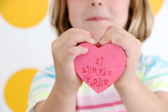 Kids can easily make cute heart shaped gift boxes for a Valentine's day gift