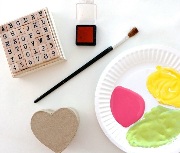 Supplies needed for Valentine's box craft