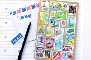 Postage Stamp Notebook