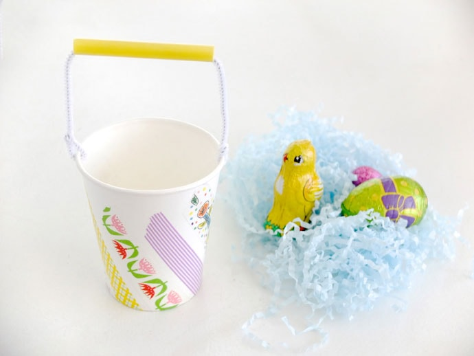 Paper cup easter baskets my poppet makes diy mini easter baskets from paper cups negle Images