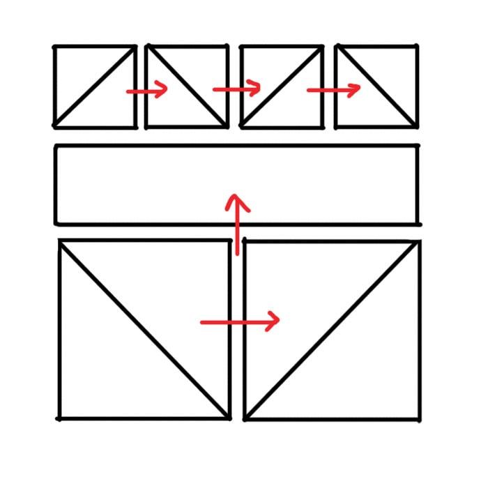 Geometrig heart quilt pattern layout
