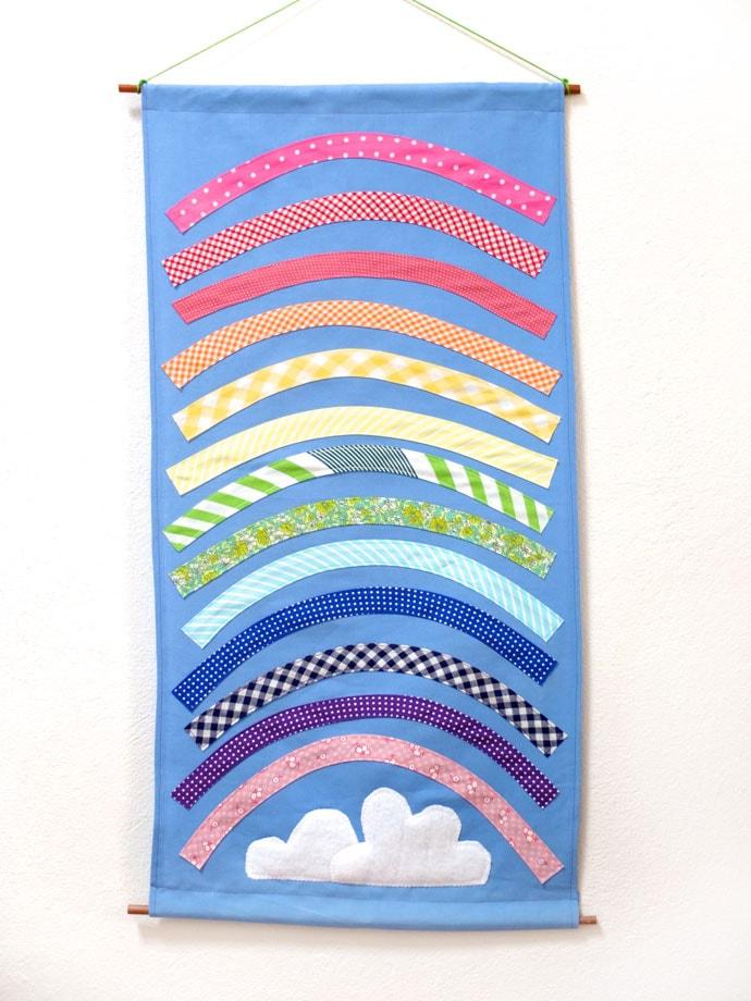 DIY rainbow wall hanging mypoppet.com.au