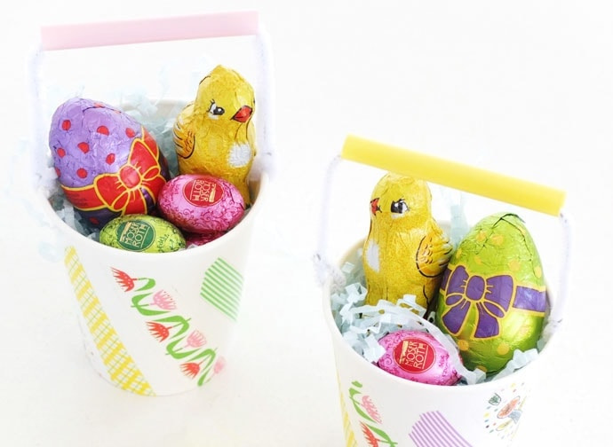 Paper cup easter baskets my poppet makes diy mini easter baskets from paper cups negle Gallery