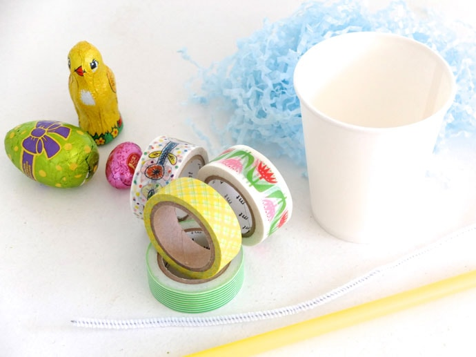 Mini easter basket supplies
