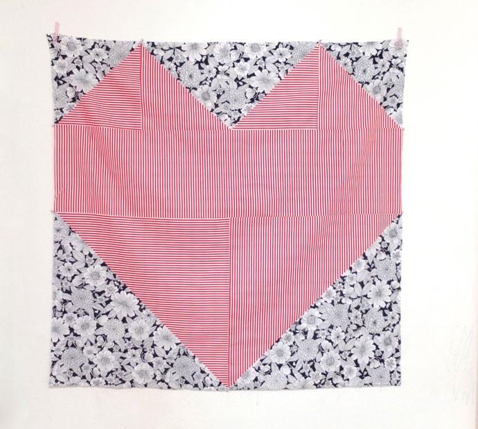 Modern Heart design quilt