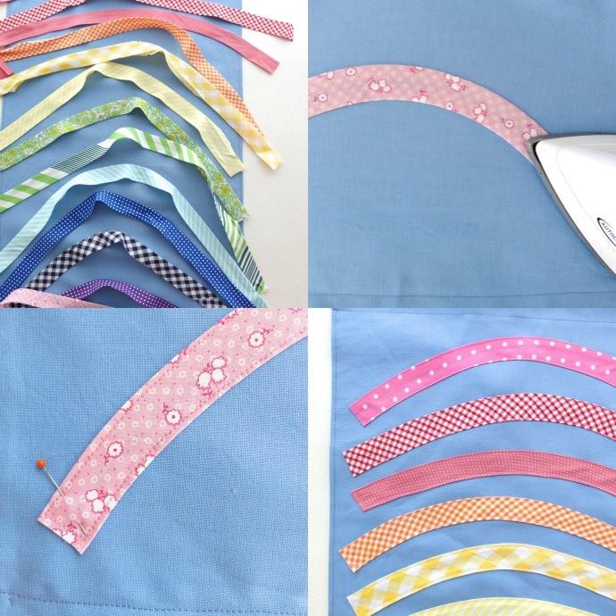rainbow wall hanging step 3