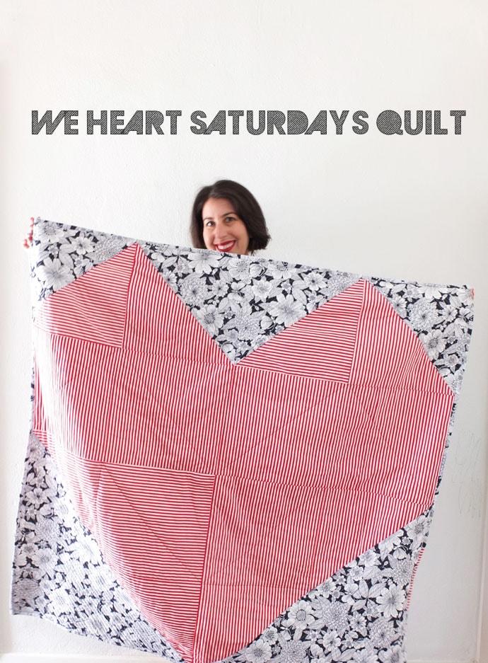 Geometric Heart quilt free pattern