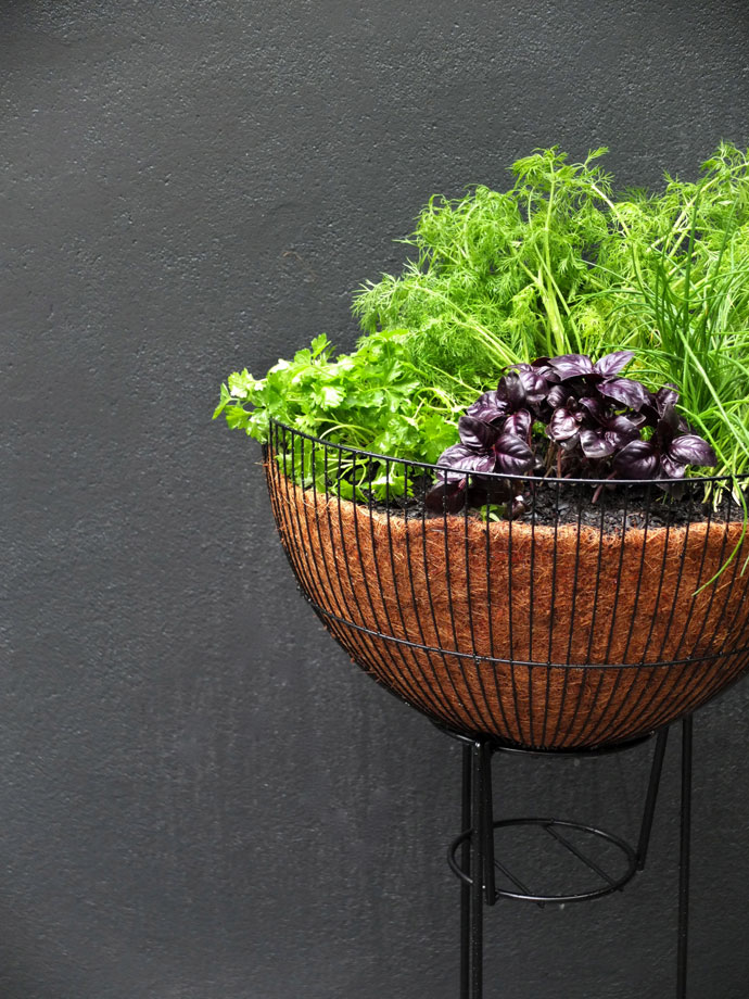 How to make a mid century planter upcycled DIY