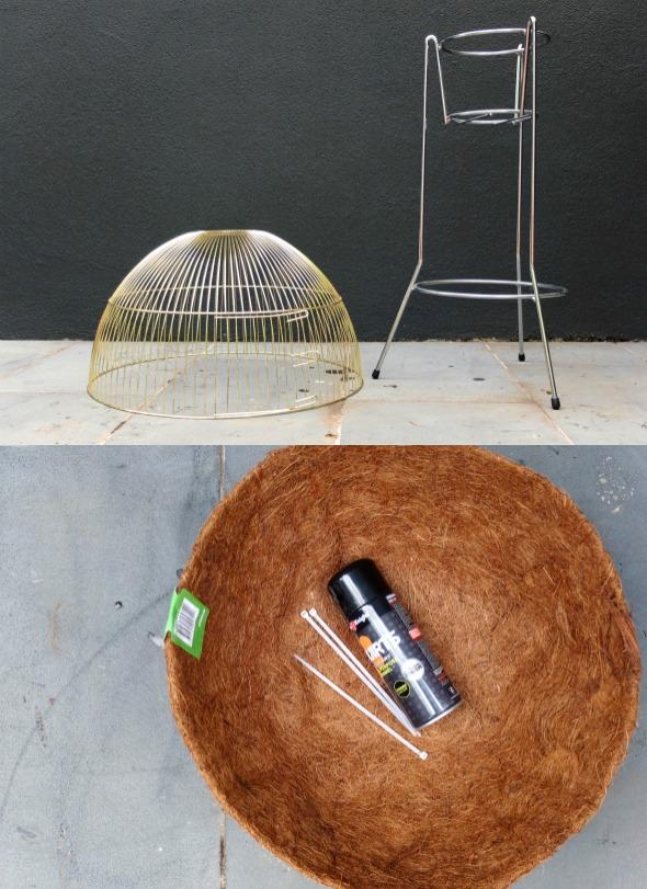 Upcycle mid century planter DIY supplies
