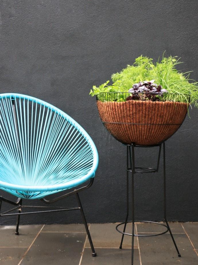 DIY mid century planter