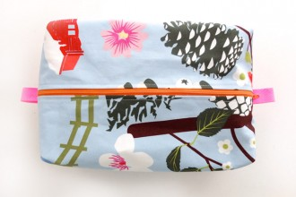 Zippered toiletry wash bag pattern