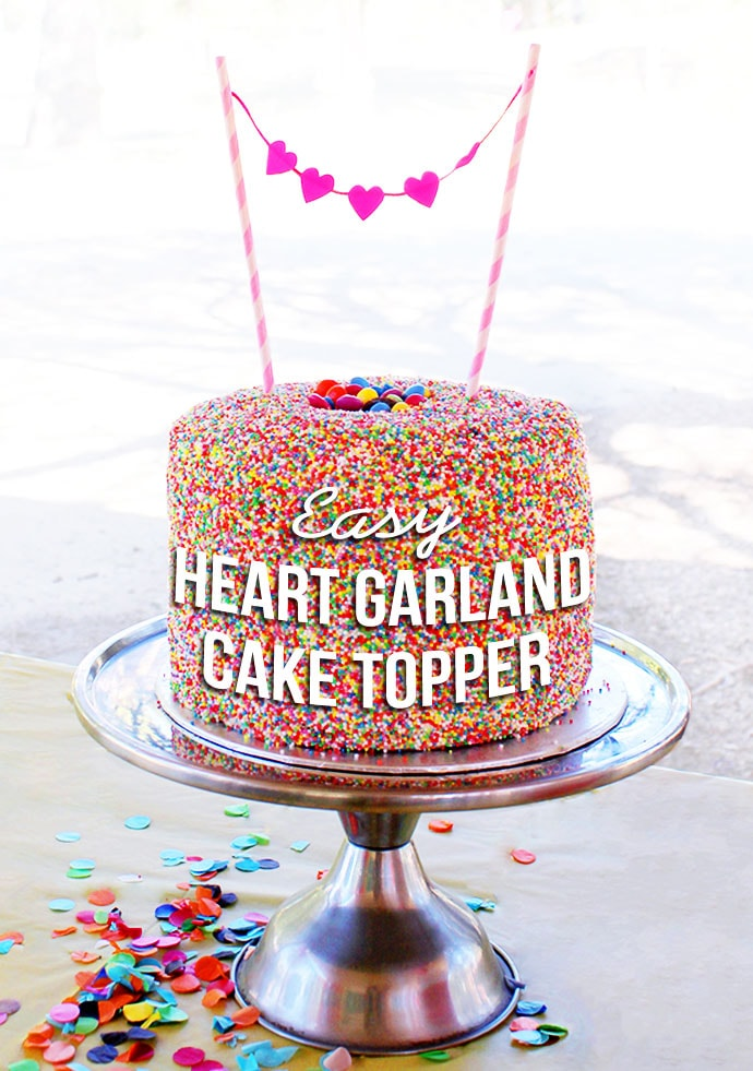 Easy Heart Garland Cake Topper