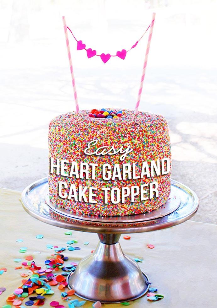 Easy Heart Garland Cake Topper