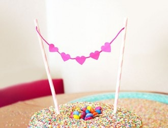 cake topper DIY instructions