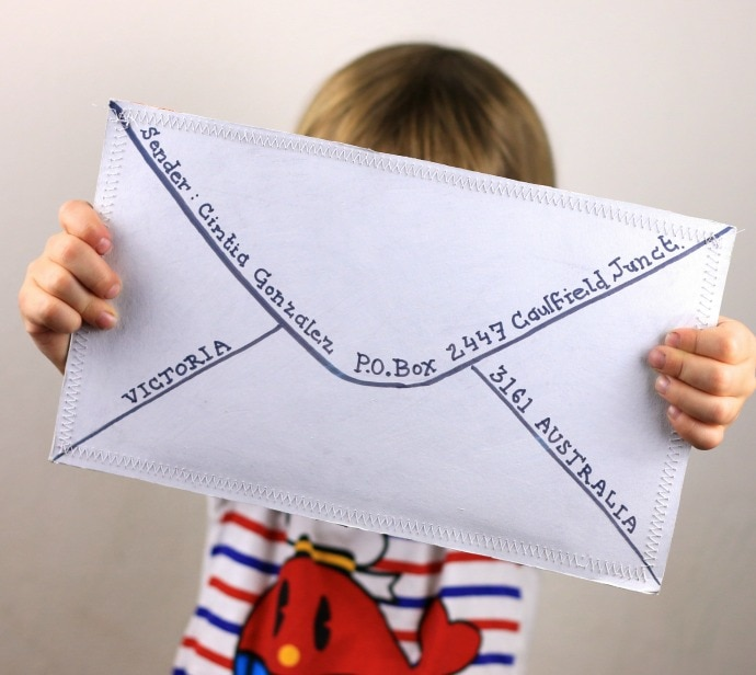 recycled craft giant airmail envelope my poppet makes