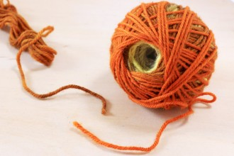 How to needle felt yarn ends together