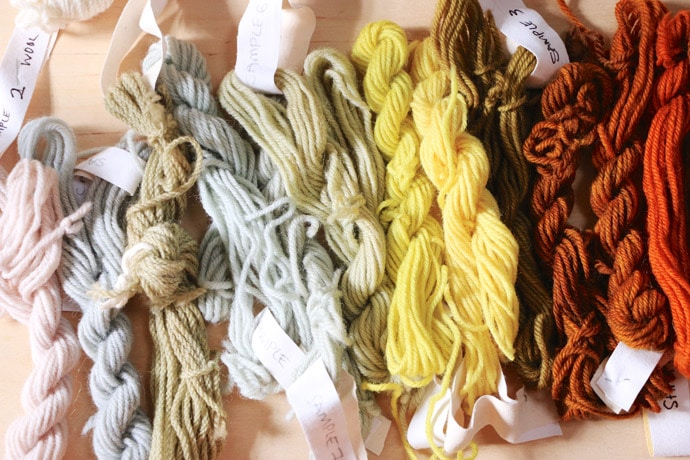 collect yarn scraps and samples