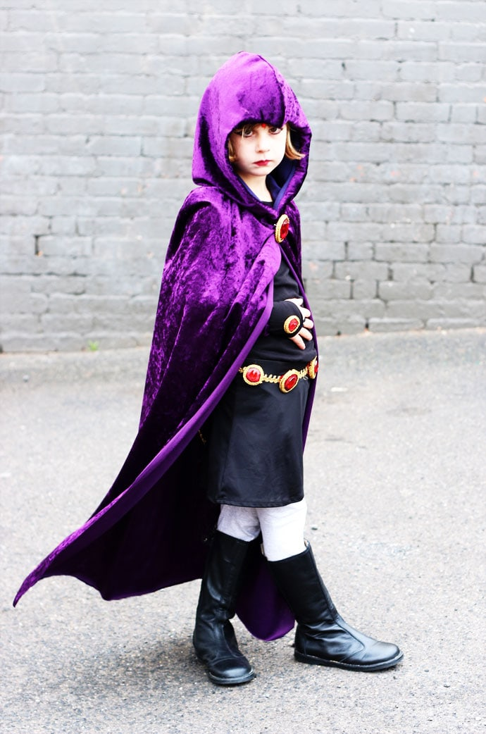 Raven cosplay costume DIY Teen Titans