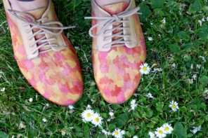 painterly shoe makover for spring