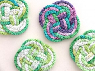 French Knitted roap coaster DIY