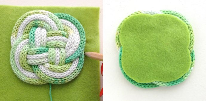 knotted coaster DIY