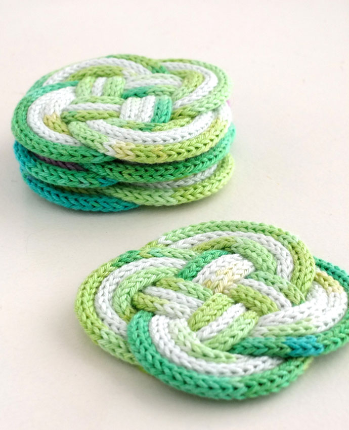 DIY rope coaster with french knitting mypoppet.com.au