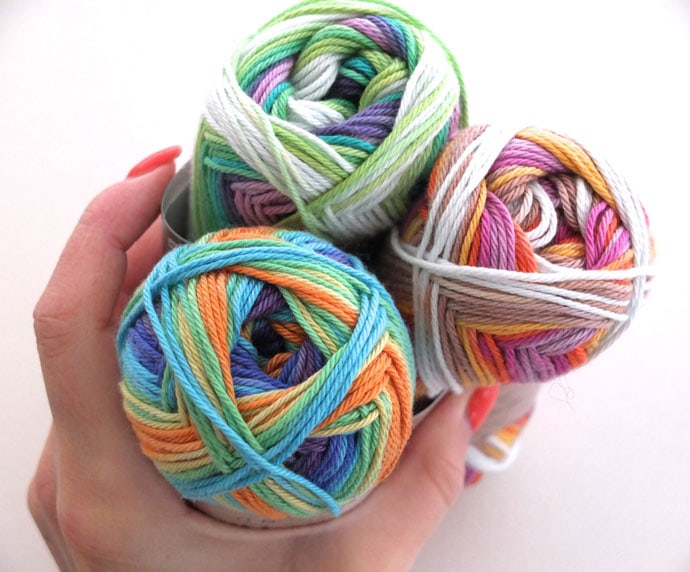 verigated yarn cotton