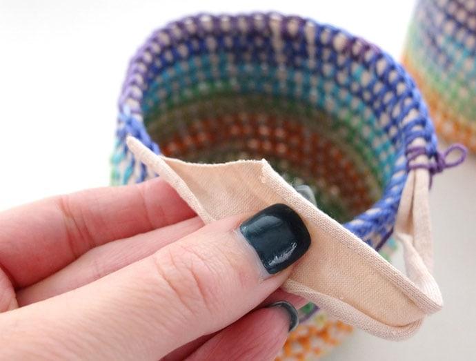 Coil + Crochet Rainbow Basket DIY on MyPoppet.com.au/Makes