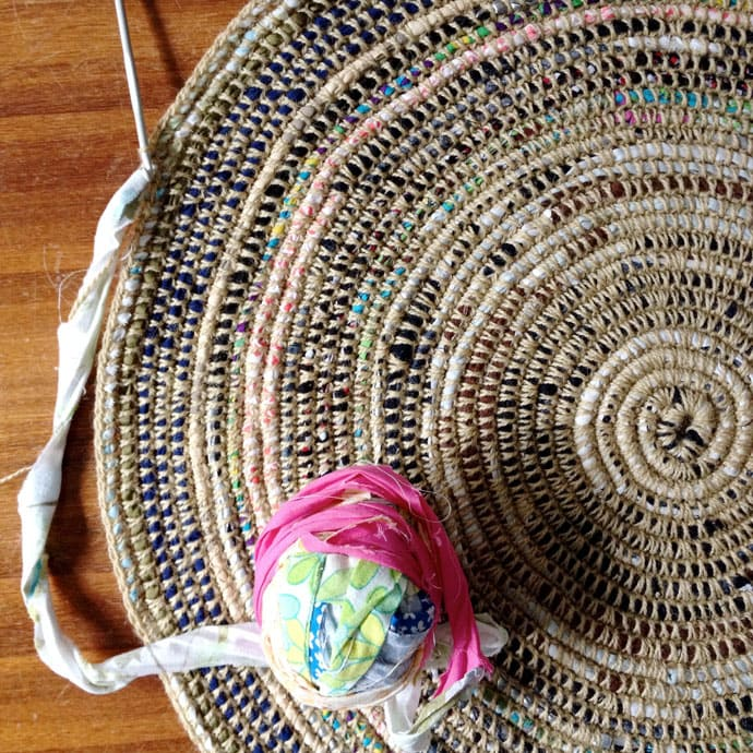 Coil Crochet Scrap Fabric Rug Diy My Poppet Makes