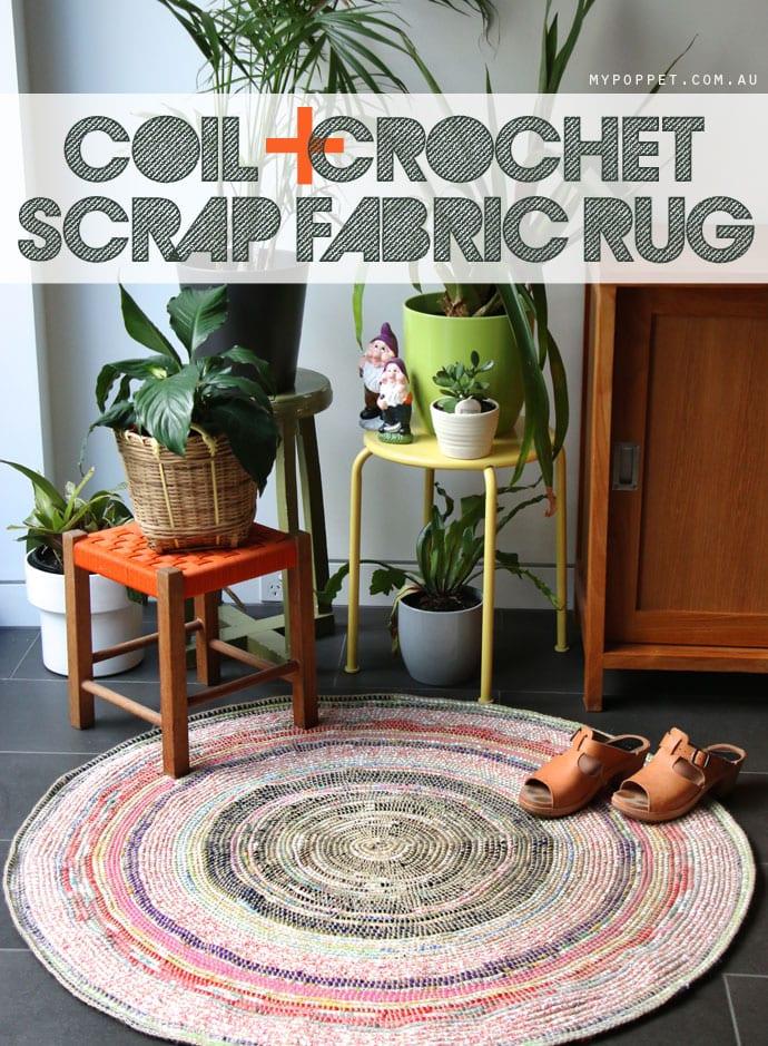 Coil + Crochet Scrap Fabric Rug - mypoppet.com.au