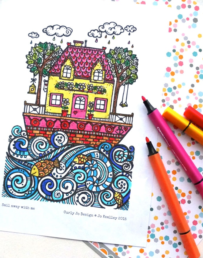 Free printable colouring page
