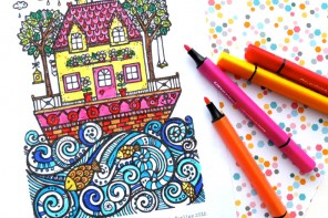 The Lucky Draw Project Free colouring page