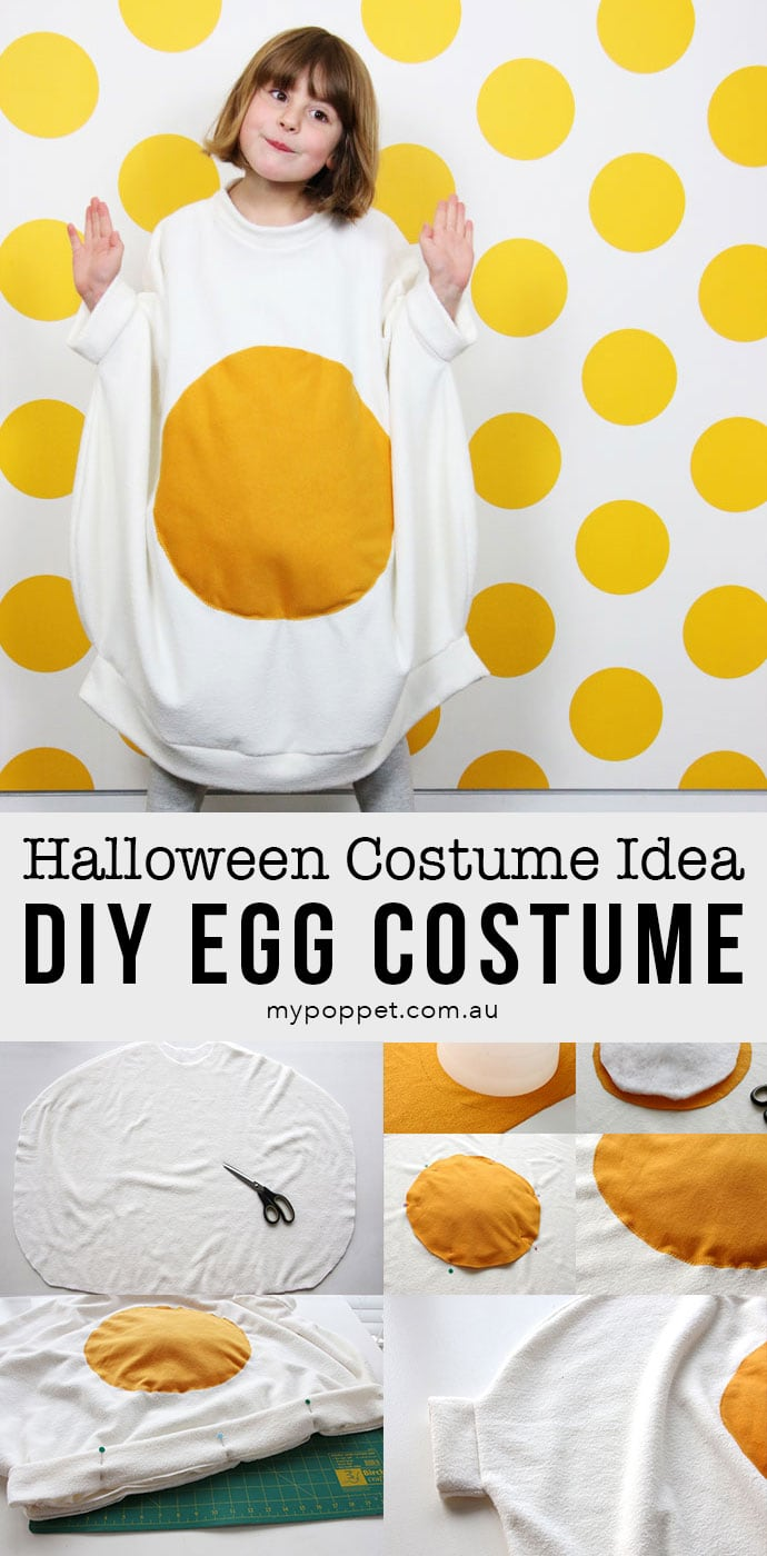 How to make an Egg Costume for Halloween - mypoppet.com.au