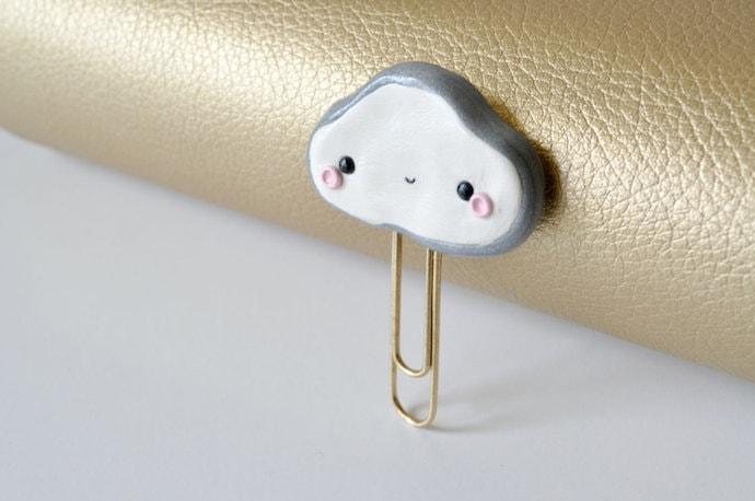 Binky Pop Inc - Kawaii Cloud Paperclip