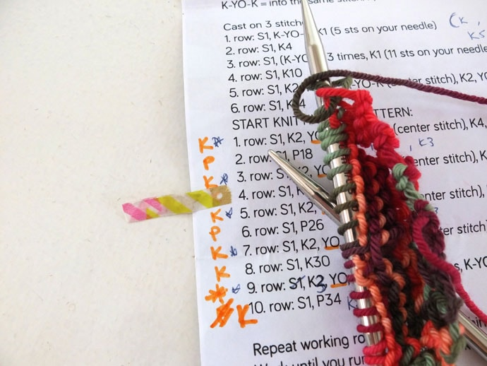 Knitting Pattern Marker : Skeino Startup Shawl Kit Review - My Poppet Makes