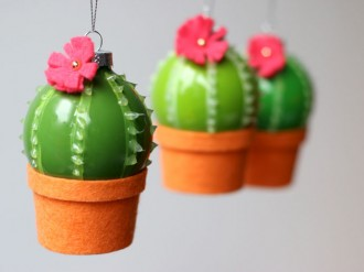 Cactus Christmas babuble decoration DIY